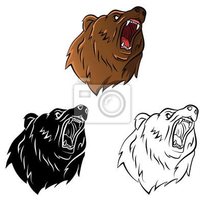 Libro para colorear dibujos animados oso vinilos para portátiles ...