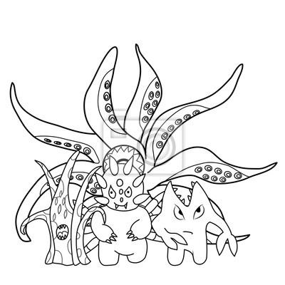 Libro Para Colorear Dibujos Monstruos De Miedo Vinilos Para