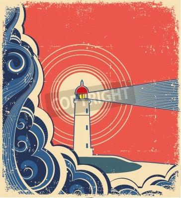 Vinilo Lighthouse with blue sea.