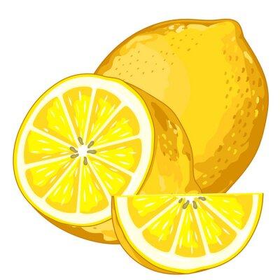 Vinilo Limón aislado en el fondo blanco.