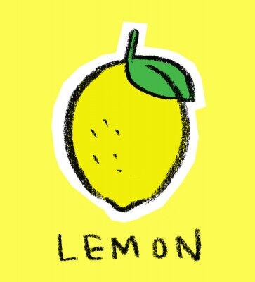Vinilo Limón en fondo amarillo
