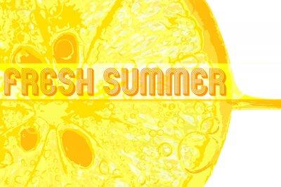 Vinilo Limón fresco con el texto verano fresco