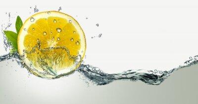 Vinilo Limón y salpicaduras de agua.