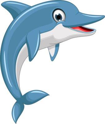 Vinilo linda de la historieta de salto del delfín