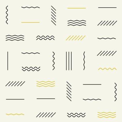 Vinilo Líneas geométricas patrón transparente.