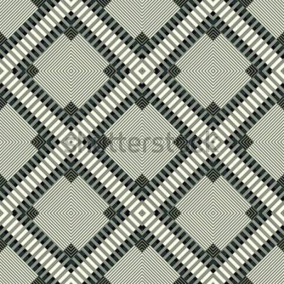Vinilo Líneas oscuras y polígonos de fondo geométrico ilustración de patrones sin fisuras