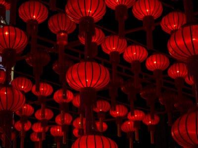 Vinilo Linternas Chinas, Año Nuevo Chino.