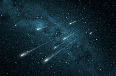 Vinilo Lluvia de meteoros en el cielo nocturno estrellado