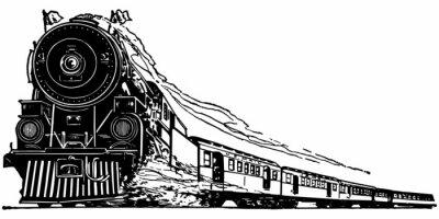 Vinilo Locomotora de vapor