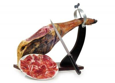 Vinilo Lonchas de jamón Recién cortado.