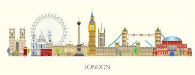 Vinilo London skyline vector 7