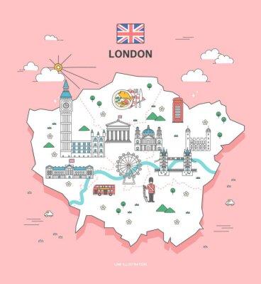 Vinilo London Travel Landmark Collection