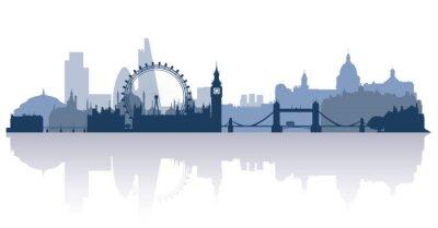 Vinilo Londres en vector de estilo plano