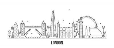Vinilo Londres horizonte, Inglaterra, Reino Unido ciudad edificios vector
