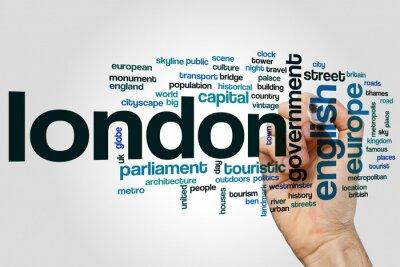 Vinilo Londres nube de palabras