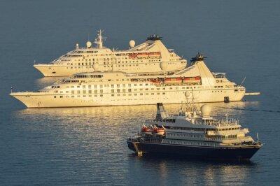 Vinilo Los buques de crucero amarrados Dubrovnik