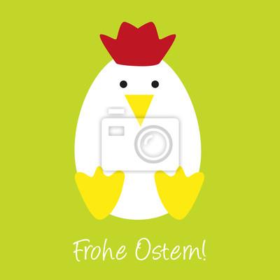 Vinilo Lustiges Huhn