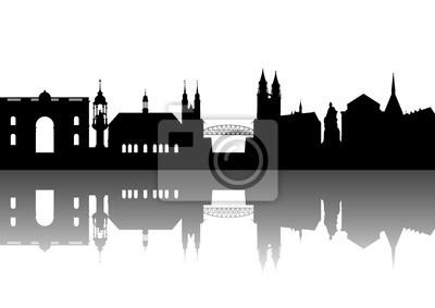 Magdeburgo Sajonia-Anhalt abstracto