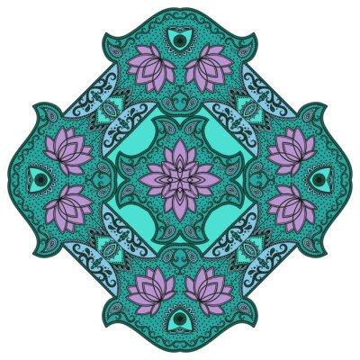 Vinilo Mandala del color del vector.