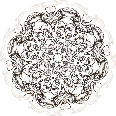 Vinilo Mandala diseño étnico de la ilustración de la India