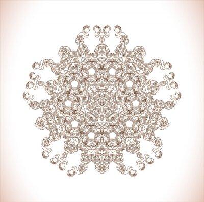 Vinilo Mandala Patrón redondo. Resumen patrón de elegancia. Dibujado a mano