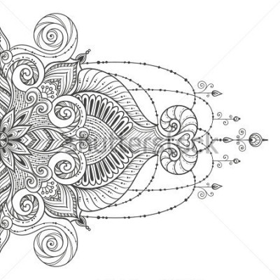 Vinilo Mandala Vector tattoo. Perfect card for any other kind of design, birthday and other holiday, kaleidoscope, medallion, yoga, india, arabic. Islam, Arabic, Indian, asian motifs.