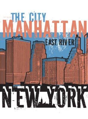 Vinilo Manhattan, ciudad de Nueva York