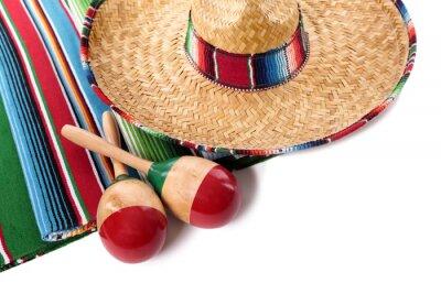 Vinilo Manta y sombrero mexicano