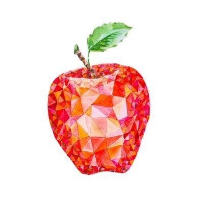 Vinilo Manzana baja de la acuarela del poly