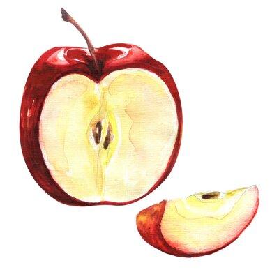 Vinilo Manzana roja aislada en el recorte de fondo blanco