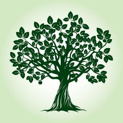 Vinilo Manzano Verde. Ilustración vectorial.