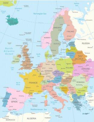 Vinilo Map.Layers Europa-altamente detallados utilizados.