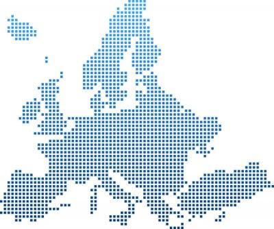 Vinilo map of Europe