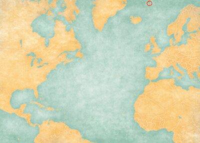 Vinilo Map of North Atlantic Ocean - Jan Mayen