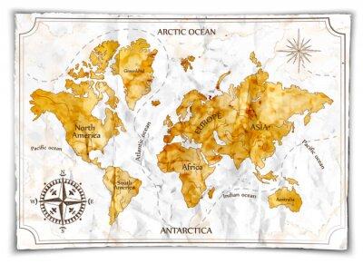 Vinilo Mapa antiguo