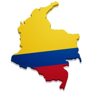Vinilo Mapa Colombia