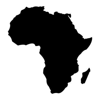 Vinilo Mapa de África