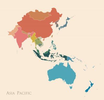 Vinilo Mapa de Asia-Pacífico