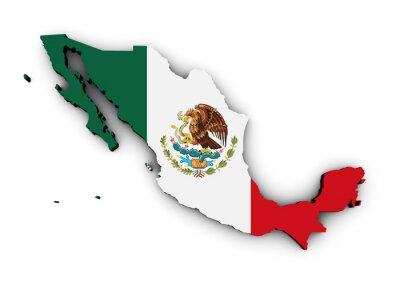 Vinilo Mapa de la bandera de México