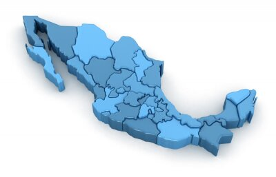 Vinilo Mapa de México. Imagen con el camino de recortes.