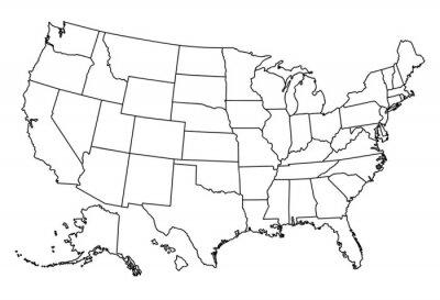 Vinilo Mapa de USA