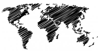 Vinilo Mapa del mundo
