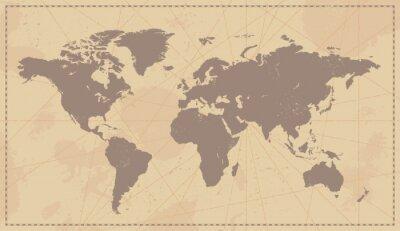 Vinilo Mapa del mundo del vintage Viejo
