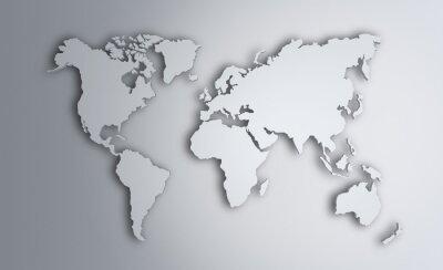 Vinilo Mapa del mundo. Imagen con trazado de recorte