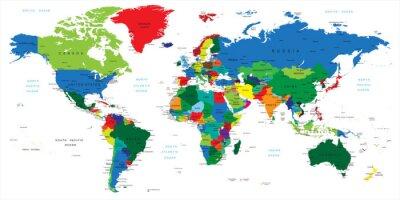 Vinilo Mapa del mundo-países