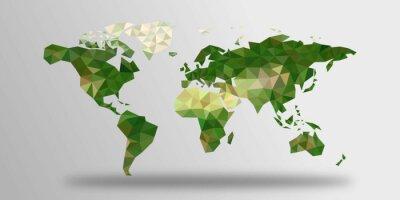 Vinilo Mapa del mundo polígonos