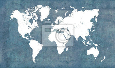 Vinilo Mapa del mundo, vintage