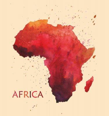 Vinilo Mapa estilizado de África.