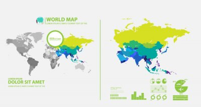 Vinilo mapa infográfico