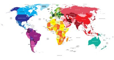 Vinilo Mapa Político del Mundo